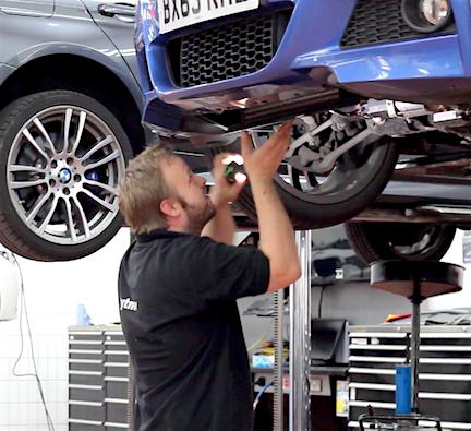 Working in a vehicle showroom