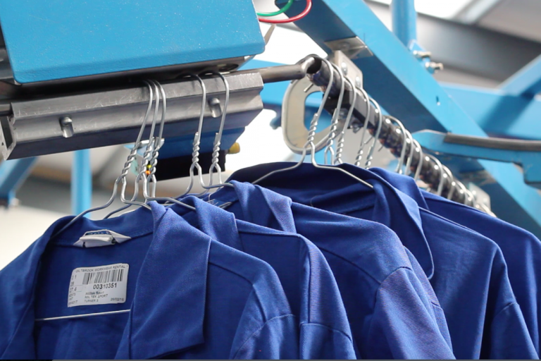 Workwear in laundry process