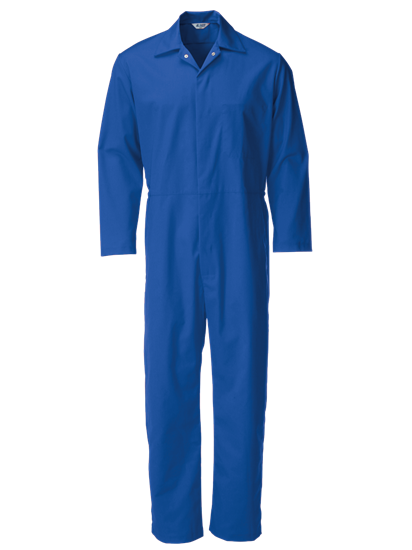 blue food coverall