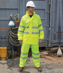 hi-vis jacket and trousers