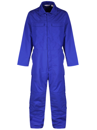 light blue coverall with knee pockets