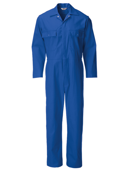 light blue coverall