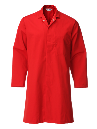 red food trade coat