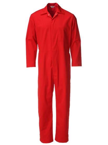 red food trade coverall