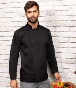 black chefs jacket