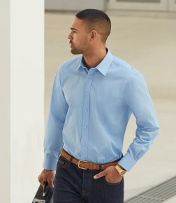 mens blue long sleeve shirt