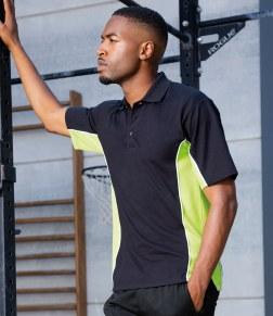 mens contrast work polo shirt