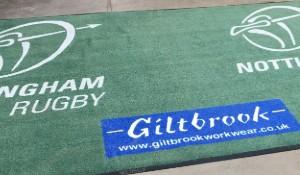 rugby club floor mat